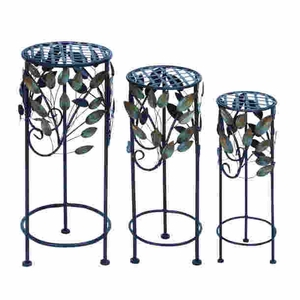 Contemporary Round Metal Plant Stand Suiting Fit any Garden Decor Brand Woodland