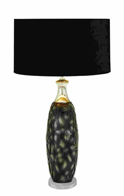 Contemporary Seductive Table Lamp Plays On Light And Shadow - 53415 by Benzara
