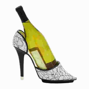 Contemporary Shoe Wine Holder with Attractive Animal Print Brand Woodland