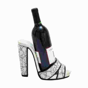 Contemporary Shoe Wine Holder with Attractive Stiletto Design Brand Woodland