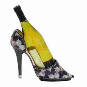 Contemporary Shoe Wine Holder with Stiletto Design Brand Woodland