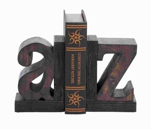 Contemporary Sturdy Wood Book End with Robust Design (Set of 2) Brand Woodland