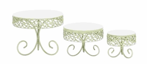 Contemporary Style Decorative Cake Stand Set Brand Woodland