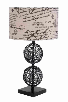 "Contemporary Style Long Lasting Rattan 29"" Table Lamp Brand Woodland"