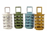 Contemporary Style Wooden Lantern Set of FourAssorted Colors