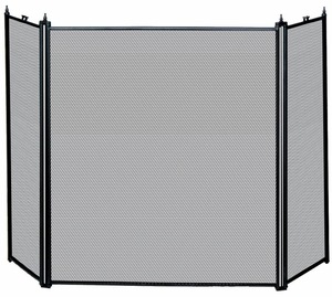 Contemporary Styled 3 Fold Black Screen