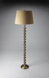 Contemporary Styled Antique Brass Finish Floor Lamp by Butler Specialty