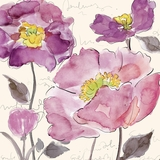 Contemporary Styled Artistic Purple Poppies II Painting by Yosemite Home Decor