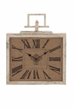 Contemporary Styled Attractive Metal Wall Clock by Woodland Import