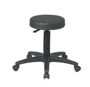 Contemporary Styled Backless Drafting Stool with Nylon Base by Office Star