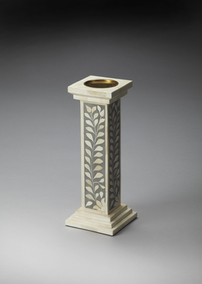 Contemporary Styled Bone Inlay Candle Holder by Butler Specialty
