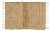 Contemporary Styled Burlap Natural Chindi/Rag Rug by VHC Brands