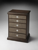 Contemporary Styled Chadwick Raffia Inlay Accent Chest by Butler Specialty