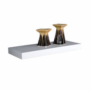 Contemporary Styled Chicago Floating Shelf White by Southern Enterprises