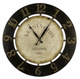 Contemporary Styled Classy Brown Finish Atish Clock by Cooper Classics