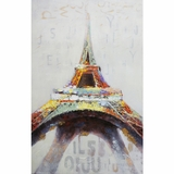 Contemporary Styled Eiffel in Color Artwork by Yosemite Home Decor