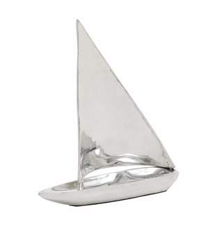 Contemporary Styled Fancy Aluminum Sailboat by Woodland Import