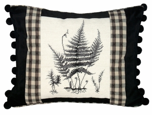 Contemporary Styled Fancy Fern Petit Point Pillow by 123 Creations