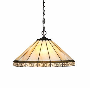 Contemporary Styled Fancy Mission Ceiling Pendant by Chloe Lighting