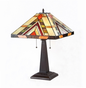 Contemporary Styled Fancy Mission Table Lamp by Chloe Lighting