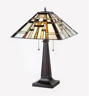 Contemporary Styled Fascinating Mission Table Lamp by Chloe Lighting