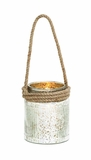 Contemporary Styled Glass Rope Lantern by Woodland Import