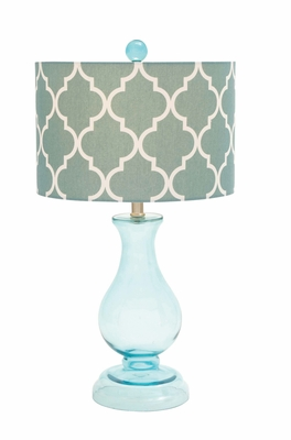 Contemporary Styled Glass Table Lamp by Woodland Import