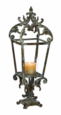 Contemporary Styled Metal Lantern with Class Apart Design Brand Woodland
