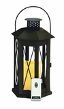 Contemporary Styled Metal Led Candle Lantern by Woodland Import
