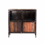 Contemporary styled Metal/wood Storage Cabinet by Yosemite Home Decor