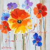 Contemporary Styled Primary Floral II Classy Painting by Yosemite Home Decor