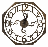 Contemporary Styled Rustic Bronze Finish Ruhard Clock by Cooper Classics