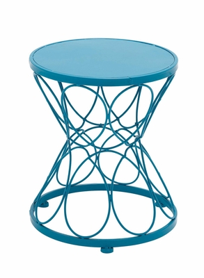 Contemporary Styled Striking Metal Blue Plant Stand by Woodland Import