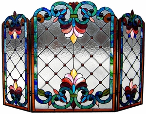 Contemporary Styled Victorian Fireplace Screen by Chloe Lighting