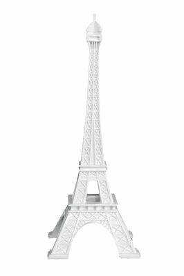 Contemporary Styled White Eiffel Tower by Three Hands Corp