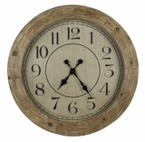 Contemporary Styled Wood Finish Fairbanks Clock by Cooper Classics