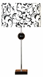 Contemporary Table Lamp with Shades in Black and White - Set of 2 Brand Woodland