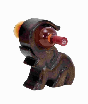 Contemporary Unique Design Wood Wine Holder with Great Finesse Brand Woodland