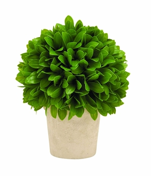 Contemporary Vibrant Green Colored Vinyl Leaf Ball in Pot Brand Woodland