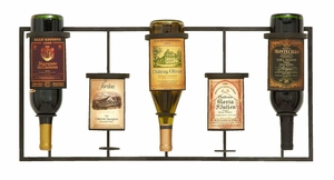 Contemporary Wine Label Wine Rack Stand With 5 Slots Brand Woodland