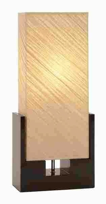 Contemporary Wood Table Lamp with Sturdy Design Brand Woodland