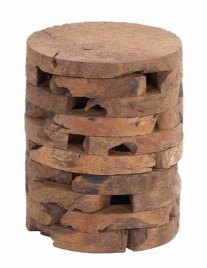 Contemporary Wooden Teak Stool with Ergonomic Construction Brand Woodland