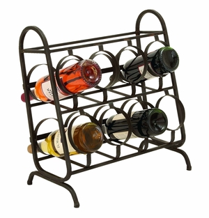 Convenience Table Top Wine Rack With 8 Slots Brand Woodland