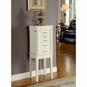 Conventional Designed Five Drawer Granada Jewelry Armoire Brand Nathan