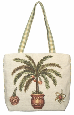 Cool And Chic Palm Tree Tote Bag by 123 Creations