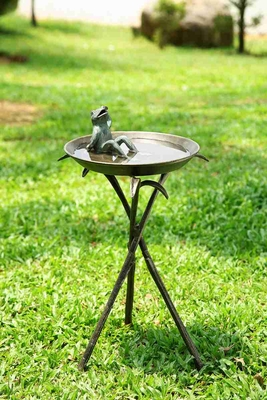 Cool Frog Birdbath Makes The Garden Decoration Soothing Brand SPI-HOME