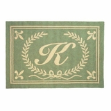 Cool Initials From A Thru Z Hooked Rug - Letter U by 123 Creations