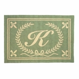Cool Initials From A Thru Z Hooked Rug - Letter V by 123 Creations