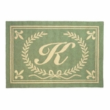 Cool Initials From A Thru Z Hooked Rug - Letter W by 123 Creations