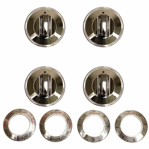 8124 Range Kleen 32-Piece Replacement Knob Kit for 4 Knobs,Electric Ranges,Chrome